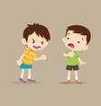 angry boy shouting at friend vector image vector image