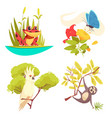 animals jungle design concept vector image