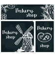 bakery products on the chalkboard vector image