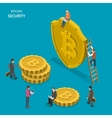 Bitcoin security isometric flat concept vector image vector image