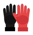 black and red gloves graphic vector image vector image