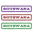 botswana watermark stamp vector image vector image
