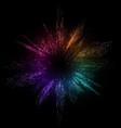 burst color background dot liquid flow 3d vector image vector image