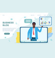 business video blog concept vector image vector image