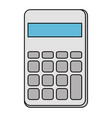 calculator math isolated icon vector image vector image