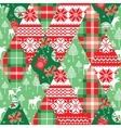 Christmas and New Year patchwork seamless vector image vector image