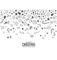 composition of christmas elements on white vector image