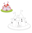 Educational game coloring book cartoon castle vector image
