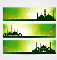 eid banners vector image vector image