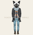 fashion animal anthropomorphic design furry art vector image vector image