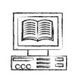 figure book inside computer technology object vector image vector image