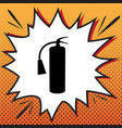 fire extinguisher sign comics style icon vector image vector image