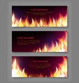 fire flame banner vector image vector image