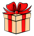 gift contour vector image vector image