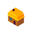 gingerbread house isometric object vector image