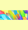 gradient abstract space multicolored vector image vector image