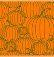 halloween background - line pumpkin vector image