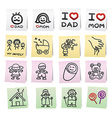 Hand draw cartoon on paper note stickers eps10 vector image vector image