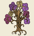 Hand drawn tree Doodle style vector image vector image