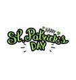 happy st patricks day lettering composition with vector image