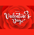 happy valentines day message design red rose vector image vector image
