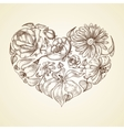 heart flowers graphic icon vector image vector image