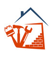 housing construction symbol with tool vector image vector image