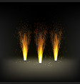 installation for a fire fountain fireworks vector image vector image