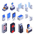 interfaces isometric set vector image vector image