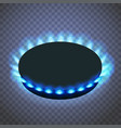 isometric gas burner or hob on a transparent vector image