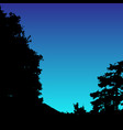 landscape silhouette realistic trees vector image