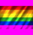 lgbt rainbow flag background vector image