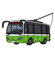 light green and white trolley bus vector image