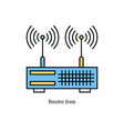 linear isolated icon - dual antenna router vector image vector image