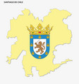 map chilean capital santiago with coat of vector image