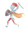 medieval knight in full armor flat vector image vector image