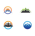 mountain nature landscape logo and symbols icons vector image vector image