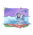 observatory with telescope vector image