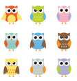 Owl cartoons vector | Price: 1 Credit (USD $1)