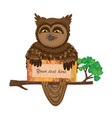 owl with card vector image