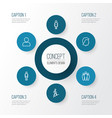 people outline icons set collection of climbing vector image vector image