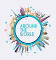 planet earth travel world travel and tourism vector image vector image