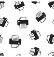 printer icon seamless pattern background business vector image