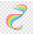 realistic rainbow on transparent background vector image