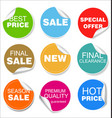 sale colorful badges and stickers design 04 vector image vector image