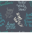 Seamless lettering pattern vector image vector image