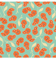 Seamless pattern with flowers and floral elements vector image