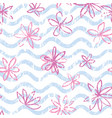 seamless wave pattern with polka dot ornament vector image vector image