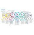 seven circles with business icon infographics on vector image vector image
