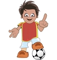 Soccer or football player vector image